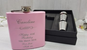 The humble Engraved Hip Flasks